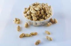 Семя арахисов Много арахисов в раковинах поднимающее вверх арахисов mkii eos dof конца предпосылки 1ds отмелое Стоковые Фотографии RF