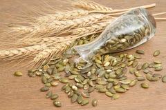Семя и пшеница тыквы Стоковые Изображения RF
