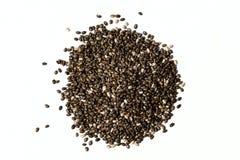 Семя Chia на белизне Стоковое Фото
