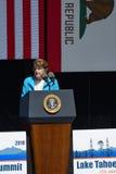Сенаторы Feinstein на двадцатом ежегодном саммите 2 Лаке Таюое Стоковое Изображение RF