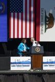 Сенаторы Harry Reid & Диана Feinstein на двадцатом ежегодном саммите 23 Лаке Таюое Стоковые Изображения RF