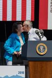 Сенаторы Harry Reid & Feinstein на двадцатом ежегодном саммите 4 Лаке Таюое Стоковые Изображения RF