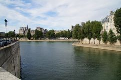 Сена в Париже - Франции - Европе Стоковое Изображение