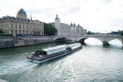 Сена в Париже - Франции Стоковая Фотография RF