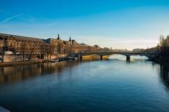 Сена, Париж Стоковая Фотография