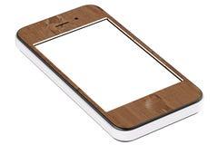 сенсорный экран бумажного телефона клетки франтовской стилизованный Стоковое Фото