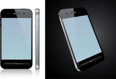 сенсорный экран smartphone принципиальной схемы иллюстрация штока