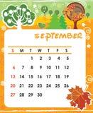 сентябрь Стоковое Изображение
