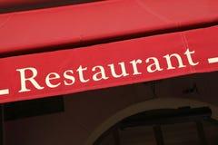 Сень Париж знака ресторана Стоковые Фотографии RF