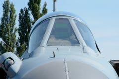 Сень реактивного истребителя - windscreen Стоковые Изображения