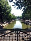 Сен-Мартен канала в Париже стоковое фото rf