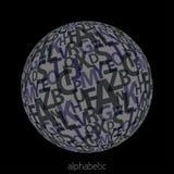 Серая алфавитная сфера Стоковое Изображение