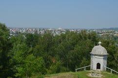 Серая башня просмотра сделана камня и кирпича Стоковые Фотографии RF