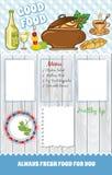 Серая деревянная предпосылка для шаблона еды бесплатная иллюстрация