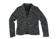 Серая женская куртка Изолят на белизне Стоковое Изображение RF
