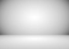 Серая и белая предпосылка комнаты градиента Стоковые Изображения