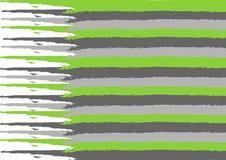 Серая и зеленая акварель stripes текстура Стоковые Изображения