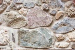 Серая и коричневая текстура предпосылки каменной стены grunge Стоковые Изображения RF