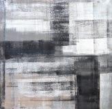 Серая и черная картина абстрактного искусства Стоковое Изображение RF