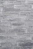Серая каменная текстура стены облицовки Стоковая Фотография