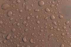 Серая капелька воды на крыше автомобиля Стоковые Изображения
