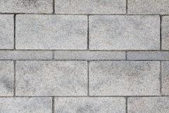 Серая кирпичная стена гранита Стоковое Фото