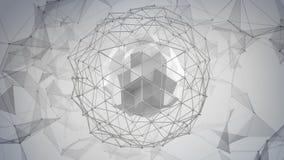 Серая низкая поли форма сети конспект 3d представляет Стоковые Фотографии RF
