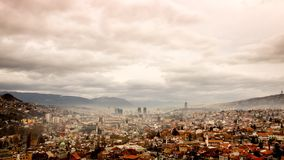 Серая панорама Сараева видеоматериал