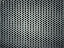 Серая пефорированная текстура предпосылки металла Стоковая Фотография
