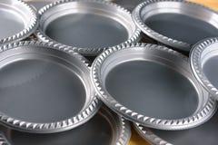 Серая пластиковая плита обедающего партии стоковая фотография