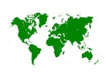 Серая политическая иллюстрация карты мира Стоковые Изображения