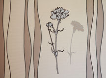 Серая предпосылка цветка Бесплатная Иллюстрация