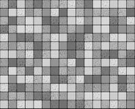 Серая ровная и треснутая мозаика плиток Стоковое Изображение RF