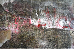 Серая старая предпосылка кирпичной стены Стоковые Изображения