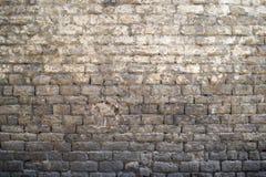 Серая старая предпосылка кирпичной стены Стоковые Фотографии RF