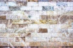 Серая стена каменных блоков, текстура кирпича светлая как предпосылка Стоковое фото RF