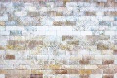 Серая стена каменных блоков, текстура кирпича светлая как предпосылка Стоковая Фотография
