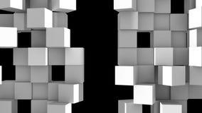 Серая стена кубов разделяет иллюстрация штока