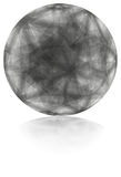 Серая сфера Стоковое фото RF