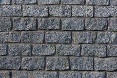 Серая текстура каменной стены Стоковая Фотография