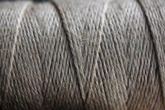 Серая текстура катушки веревочки Стоковая Фотография RF