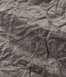 Серая Crumpled рециркулированная бумажная текстура предпосылки Винтажное ремесло p Стоковая Фотография