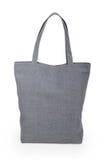 Серая linen сумка Стоковая Фотография