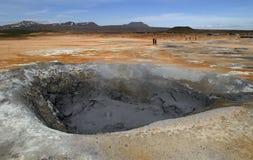 сера грязи Исландии hverir отверстия Стоковое Изображение RF