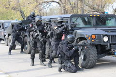 Сербские операторы жандармерии стоковая фотография rf
