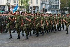 Сербский блок национального флага в march-3 Стоковые Фото