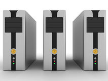 серверы высокой эффективности Стоковая Фотография RF