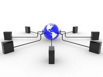 серверы земли Стоковое Изображение