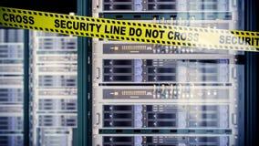 Серверы и концепция безопасностью компьютерной технологии комнаты оборудования Стоковая Фотография RF