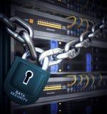 Серверы и концепция безопасностью компьютерной технологии комнаты оборудования Стоковые Изображения RF